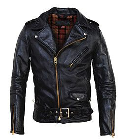 Men's Vintaged Horsehide Perfecto Assymetrical Motorcycle Jacket