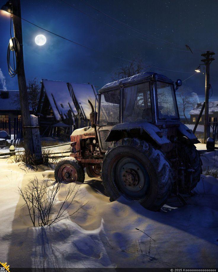 Старый трактор — Компьютерная графика и анимация — Render.ru