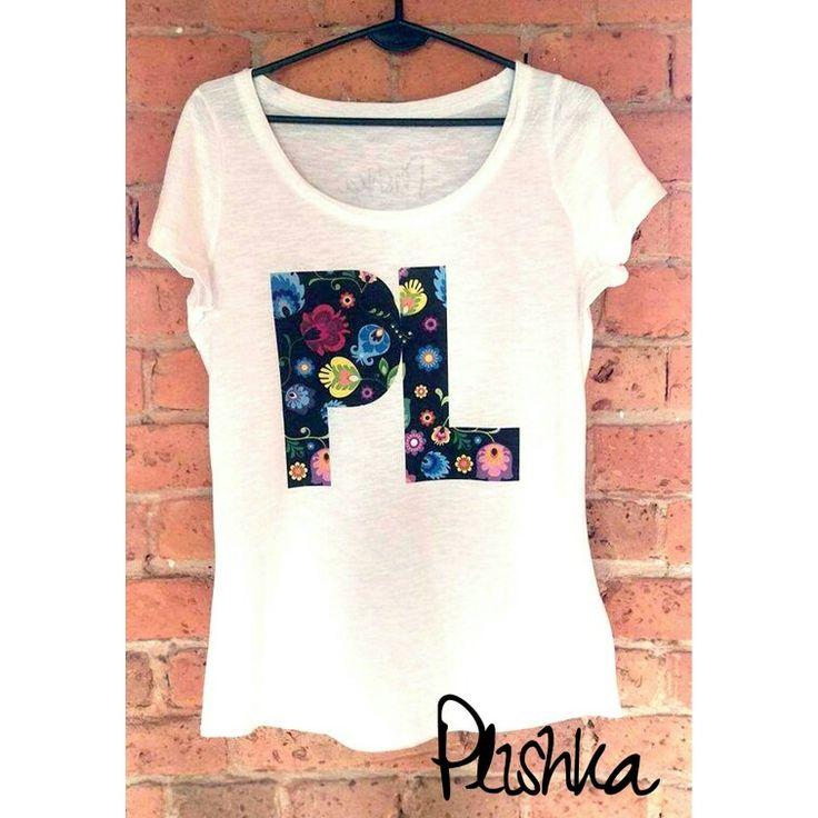 Oversize 100% cotton Tshirt with polish folk design by Plishka 😍