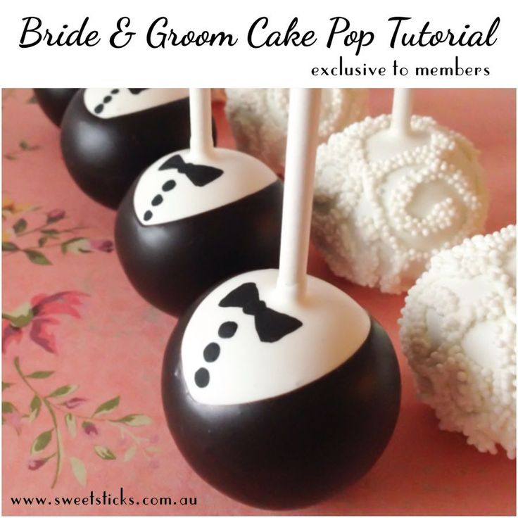 Wedding Cake Pops! Gorgeous Bride and Groom cake pop tutorials exclusive to members at www.learnhowtomakecakepops.com