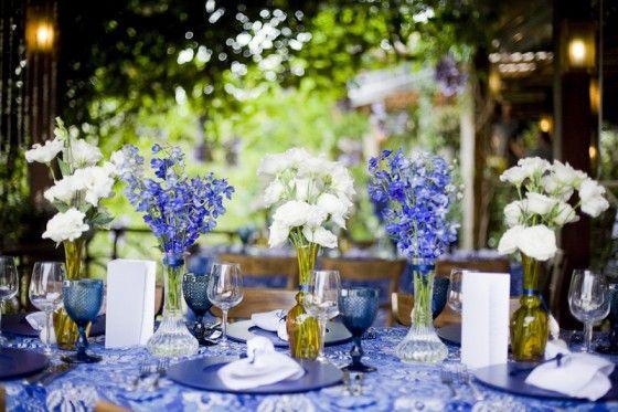 decoracao de festa azul marinho e amarelo:Casamento Azul E Branco on Pinterest