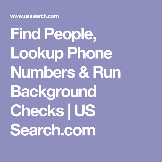 Find People, Lookup Phone Numbers & Run Background Checks   US Search.com