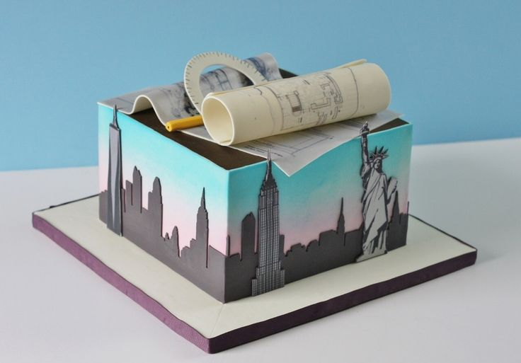 Cake for a NYC architect who now lives in Pacific...