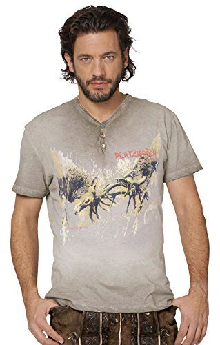 #Trachten #T-Shirt #Moritz #kiesel, #S - Trachten T-Shirt Moritz kiesel, S…
