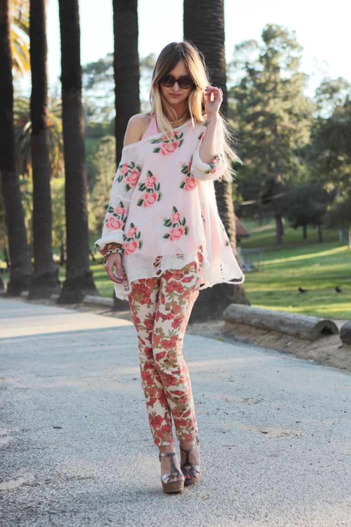 double floral outfit