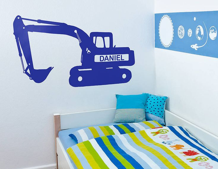 Diggers are loved by big kids and little kids alike and now they can have their very own on their bedroom wall!