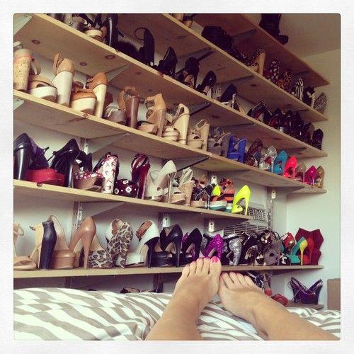 Shelfs of heels