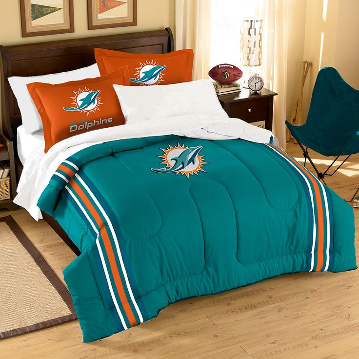 Where to buy Miami Dolphins bedding? Purchase Here: http://www.mysportsdecor.com/miami-dolphins-bedding.html  #miamidolphins #dolphins #dolphinsbedding #nflbedding