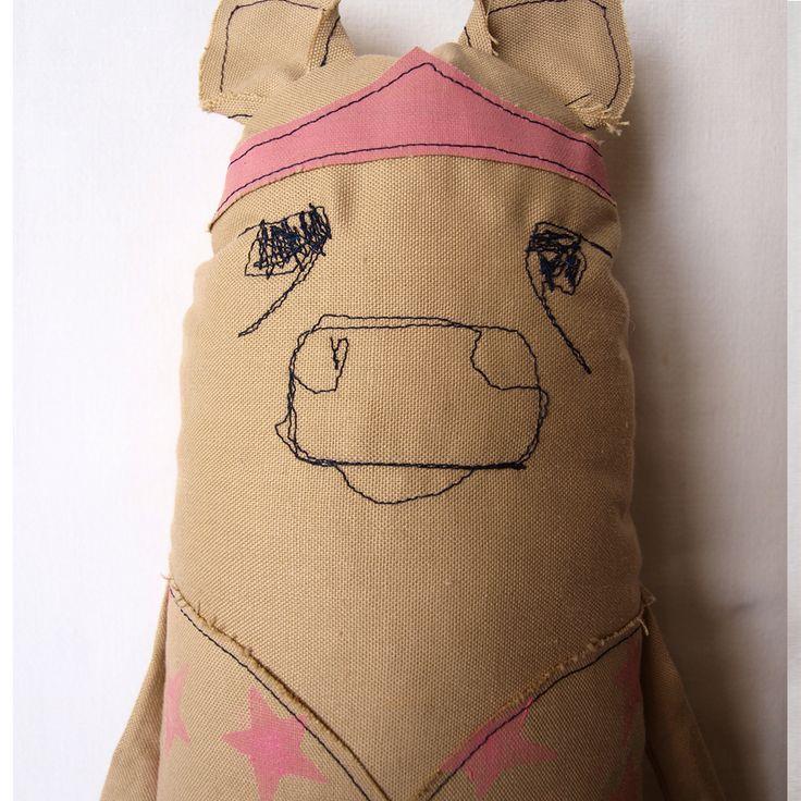 Handmade rabbit softie. Abracadabra and stuff - magic soft toys for kids. https://www.etsy.com/listing/286237699/cow-softie-cow-fabric-doll-cow-soft-toy