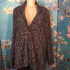 ◕◊ KAREN SCOTT PLUS 2X BLACK MARLED BUTTON DOWN LONG SLEEVE #CARDIGAN #SWEATER JACKET http://ebay.to/2d2XnYD