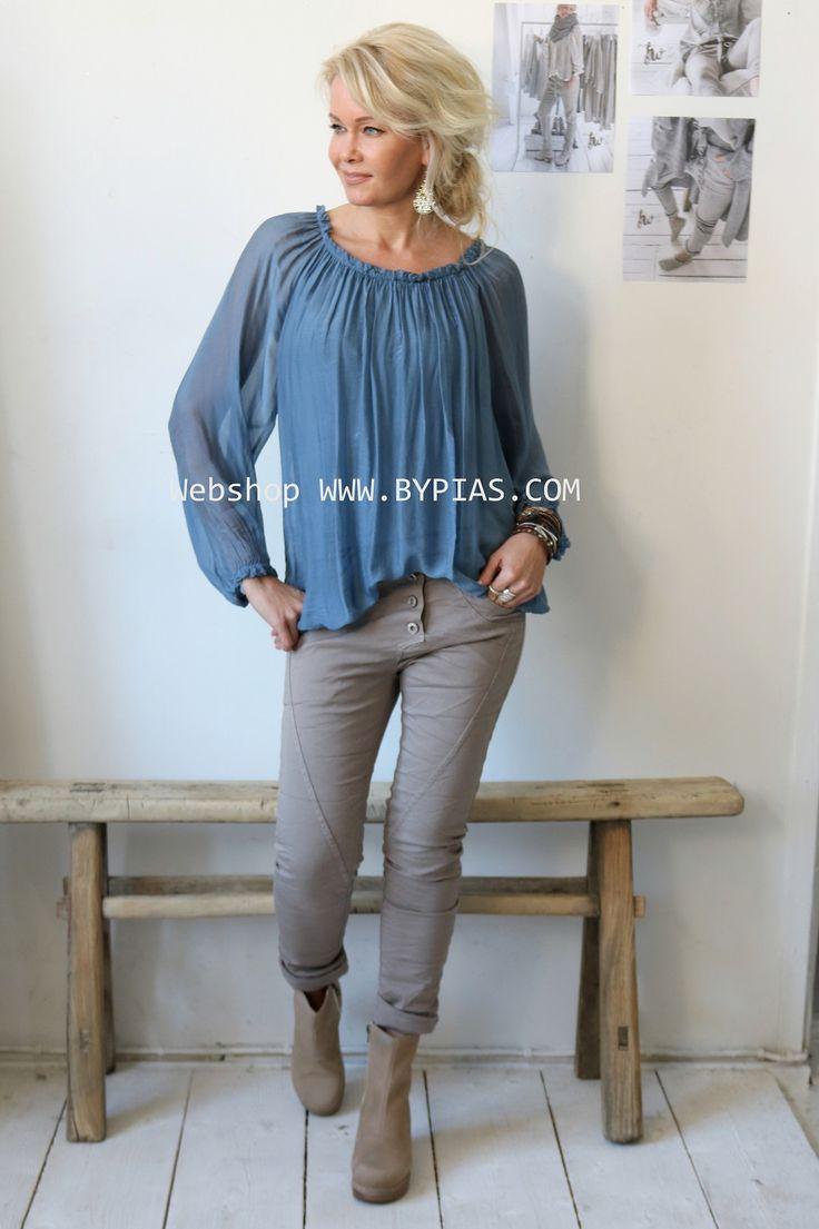 MEDINA Silk blouse, JEANS