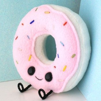 Cute little Donut Plush by Anne Kirn, available from #Shanalogic.