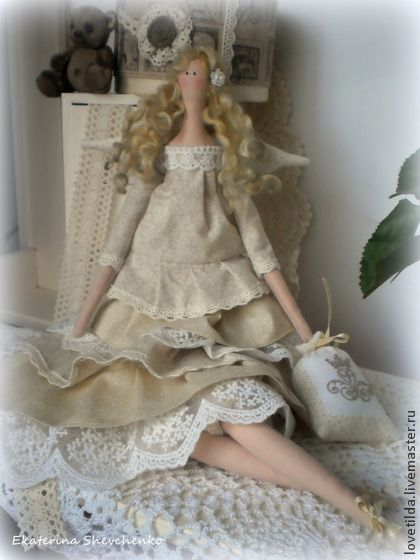 Куклы Тильды ручной работы. Ярмарка Мастеров - ручная работа Ванильный ангел Тильда. Handmade.