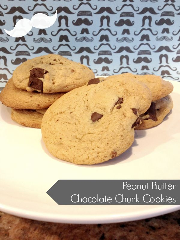 Peanut Butter Chocolate Chunk Cookies | Delicious Desserts | Pinterest