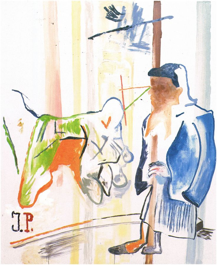 """"""" Martin Kippenberger Untitled (Jaqueline: The paintings Pablo Could`t paint anymore) 1996 Oil on canvas 180 x 150 cm VIA MORE """""""