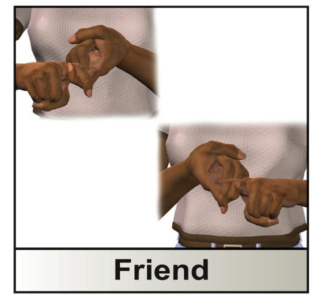 how to say we are friends in sign language