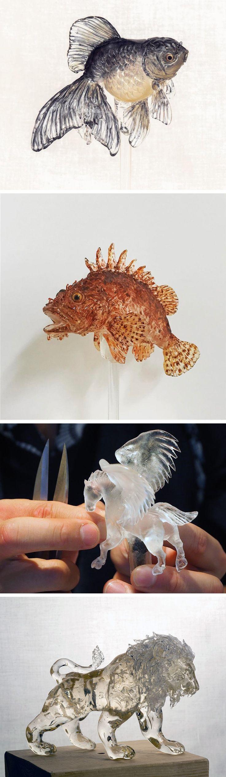 New Edible 'Amezaiku' Animal Lollipop Designs by Shinri Tezuka