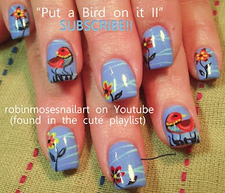 The 25 best bird nail art ideas on pinterest divergent nails but i think i will do some different colours put a bird on it 2 portlandia inspired flowers and birds robin moses nail art prinsesfo Images