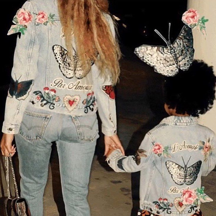 TODAY WHAT'S IMPORTANT IS DENIM PATCHES ON QUEEN BEY  RG @mogulsinmoceangirls by rosehoundapparel