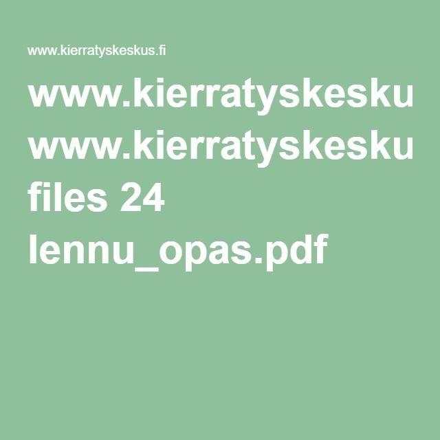 www.kierratyskeskus.fi files 24 lennu_opas.pdf