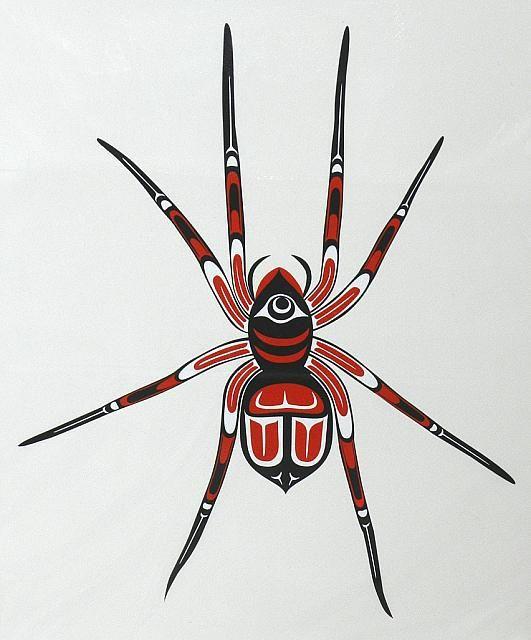 Hobo spider [Tegenaria agrestis] painting by Gerrard Stockdale, Pacific Northwest.