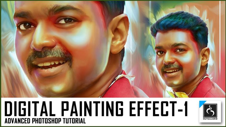 Advanced Photo to Colorful Digital Painting Photoshop Tutorial Part-1/5 ...