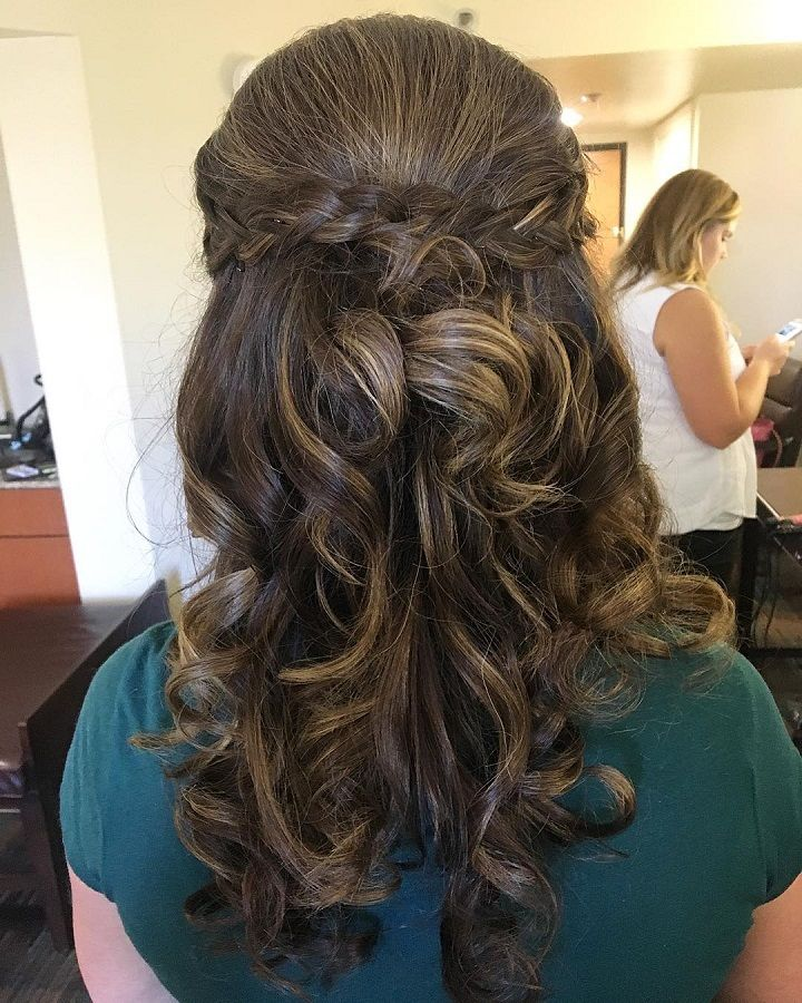 Half up half down hairstyle with braids | fabmood.com #weddinghair #hairstyles #promhair #halfup