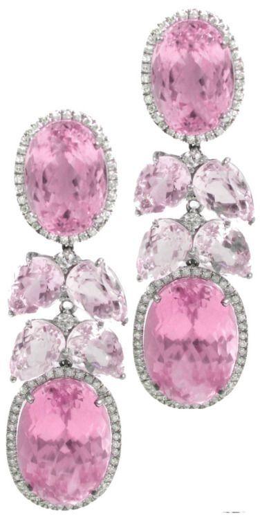 Pink sapphire earrin beauty bling jewelry fashion