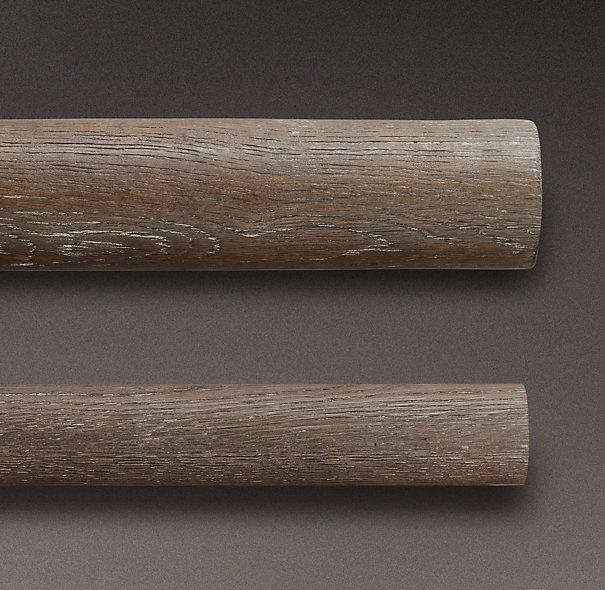 restoration hardware oak drapery rods drapery design