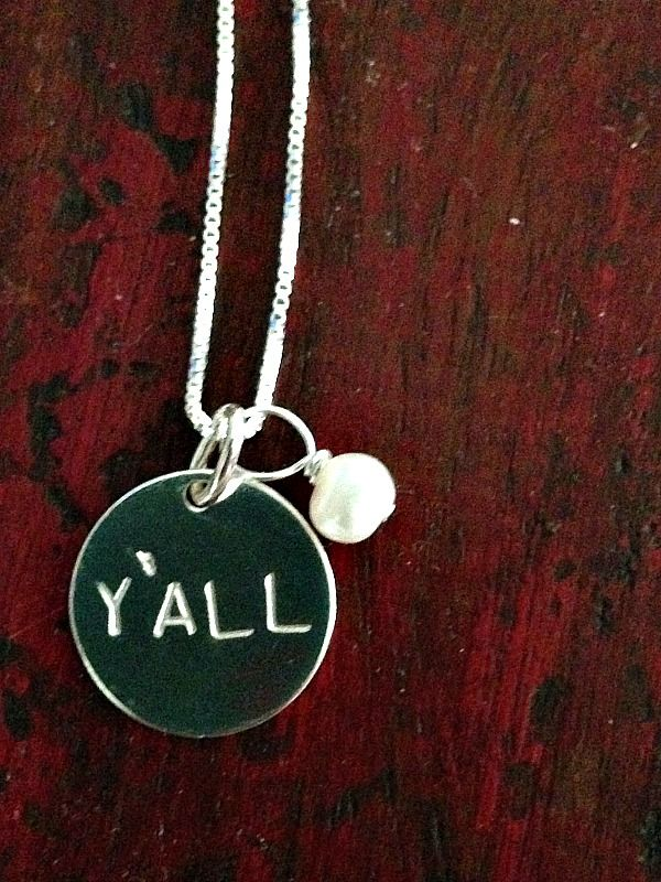 Bourbon and Boots: Y'all Necklace - I need this SO MUCH