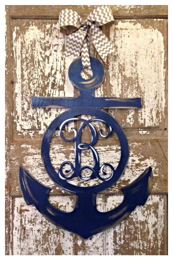 Wooden Anchor Anchor Door Hanger Nautical Wall Decor