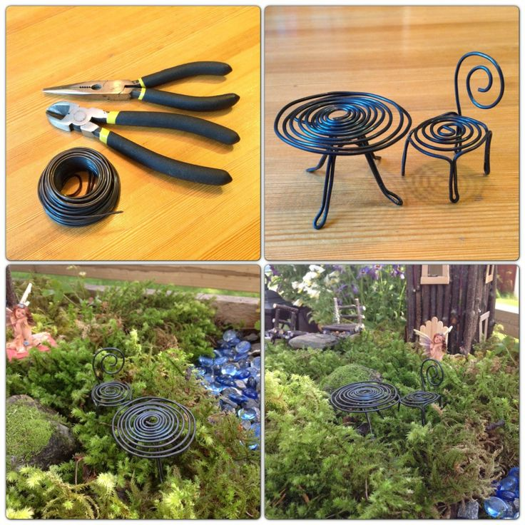 DIY - fairy garden furniture website not in English but the pictures are good