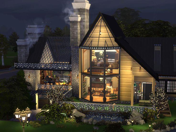 A modern eco house for your botanica sims. Found i…