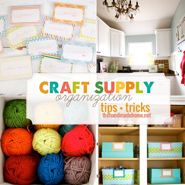 craft supply organization tips and tricks