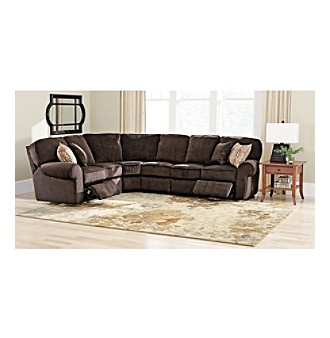 Lane® Chocolate 4-pc. Reclining Sectional  sc 1 st  Pinterest : lane megan sectional - Sectionals, Sofas & Couches