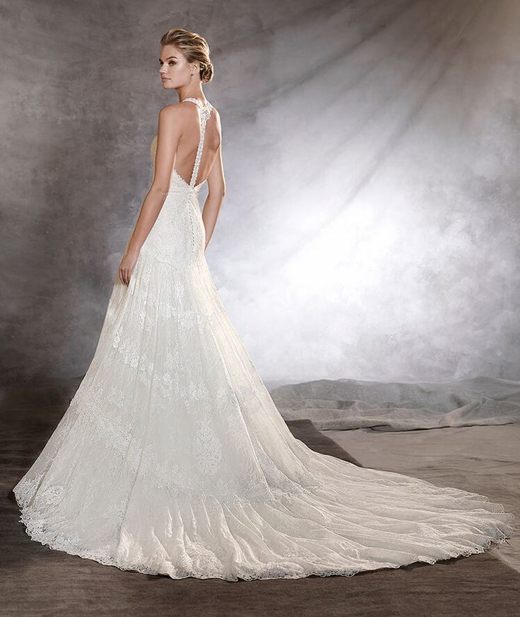 Low Waist Wedding Gowns: OSORNO - A-line Wedding Dress With Low Waist