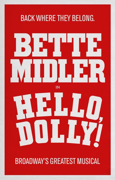 Bette Midler Will Return to Broadway in Hello, Dolly! #PinoftheDay
