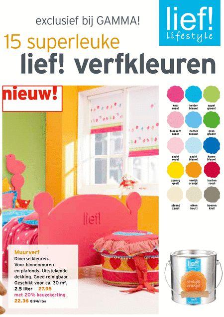 muurverf lief 15 verfkleuren r kleuren binnenmuren plafonds dekking reinigbaar 30 m2 2 5 liter 27 20 22 36 8 knal roze helder blauw appel g...