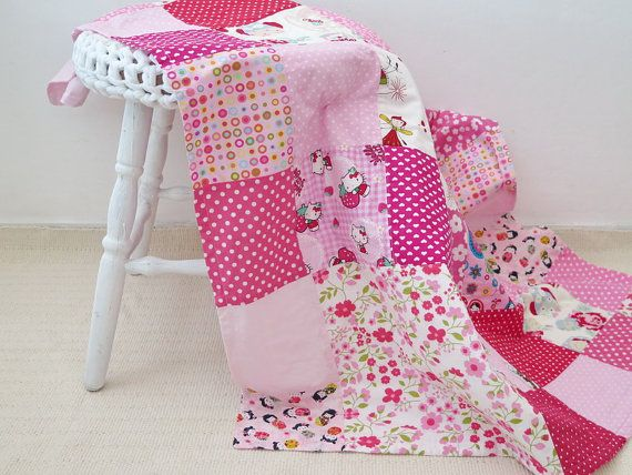 Personalized baby quilt  baby quilt for sale  hello by SweetnCozy