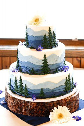 42 must see Rustic Woodland themed wedding cakes