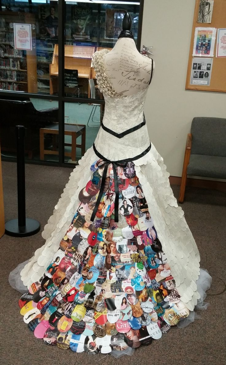 "Summer @ Your Library ""Girl Power"" Book Dress Display"