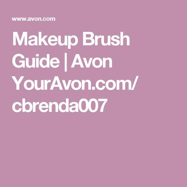 Makeup Brush Guide   Avon YourAvon.com/ cbrenda007