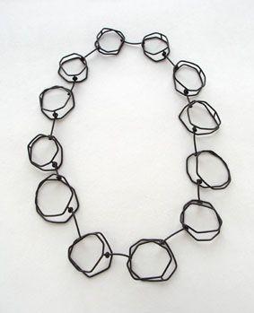 Jenny Henze necklace, 2007 oxidized silver L 65cm (27,5 x 21,5 x 2cm)