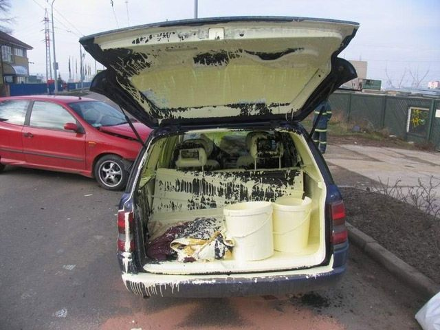 Do not drive with paint