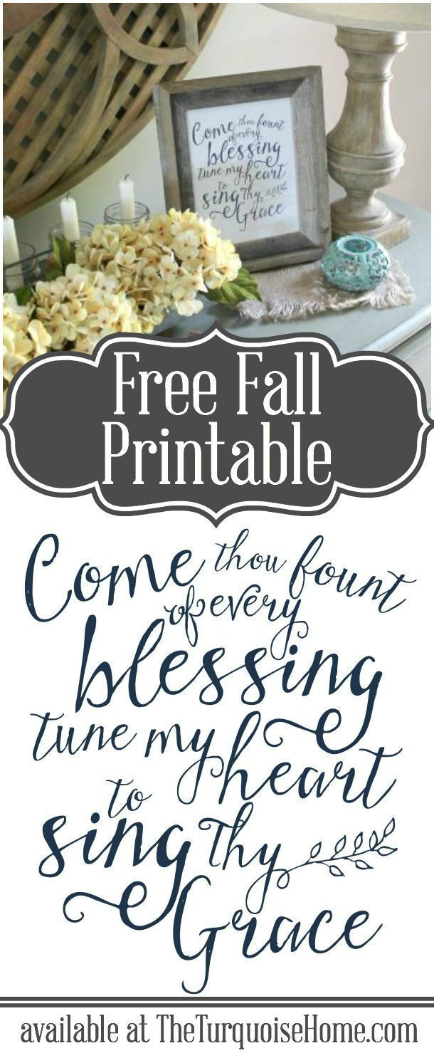 "The hymn ""Come Thou Fount"" reminds us where our blessings come from. Such a season to be grateful and thankful for all we have! 