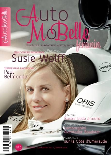 SpotOn: Susie on the front cover of the new French Automobelle Magazine.