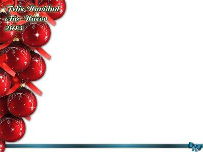 Marcos creativos para tus fotos: Marco para fotos de navidad y año nuevo 2013
