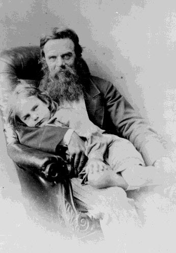 William Holman Hunt with son Cyril,1869