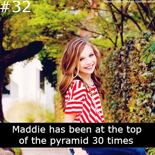 Yeah this doesn't surprise me!!dance moms fact.......maddie........32