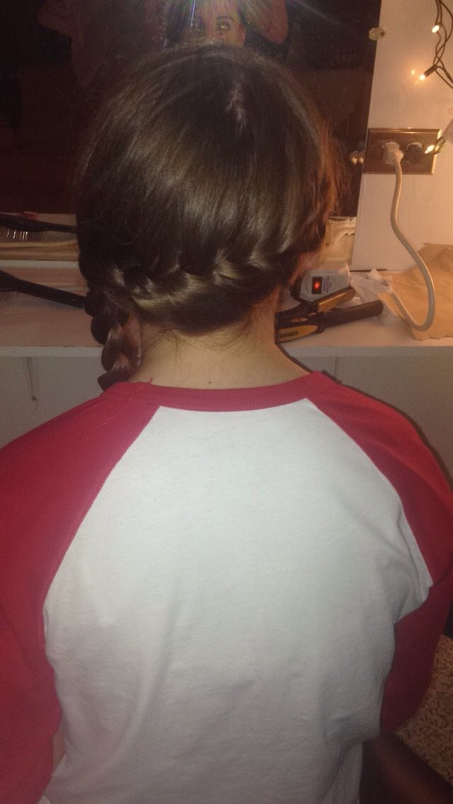 French braid into a side braid!